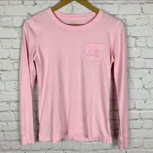 VINEYARD VINES Long Sleeve Pink Graphic Shirt XS